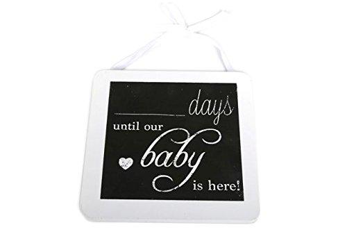 Personalisierte Schwangerschafts Countdown 'Days Until our Baby is here' Holz Tafel