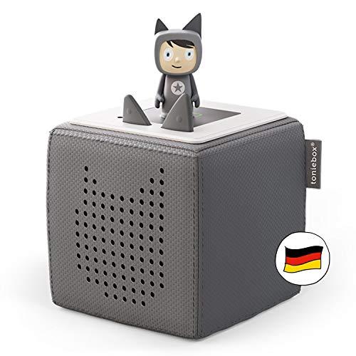 Toniebox Starterset anthrazit grau: Toniebox + Kreativ-Tonie - Der tragbare Lautsprecher für Tonies Hörfiguren und Kreativ Tonies - Für Kinder ab 3 Jahren - DEUTSCH