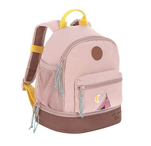 LÄSSIG Kinderrucksack mit Brustgurt Kindergartentasche Kindergartenrucksack 27 cm, 4,5 Liter oben, 1,5 Liter unten, 3 Jahre/Mini Backpack Adventure Tipi