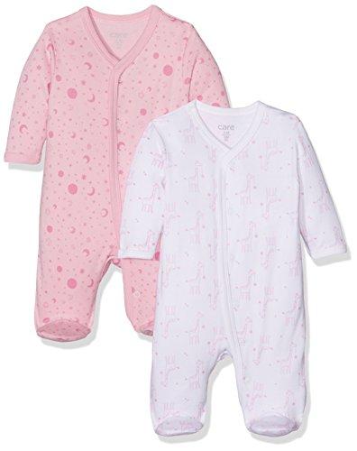 Care Baby-Mädchen Schlafstrampler, 2er Pack, Mehrfarbig (Fairy Rose 409), 0 - 3 Monate (Herstellergröße: 56 )