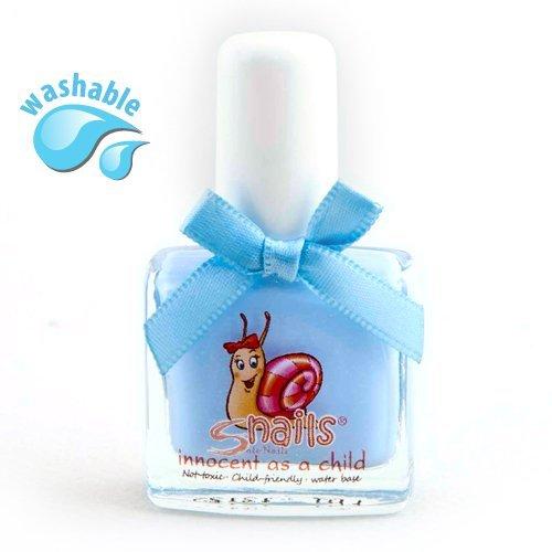 Snails Kindernagellack Bedtime Stories (Hellblau mit Schimmer) - Ungiftig & Wasserlöslich, in 21 Farben erhältlich!