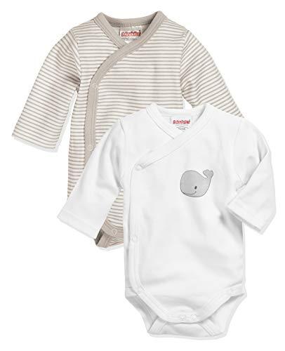 Playshoes Unisex Baby Wickel-body 1/1-arm 2er Pack Wal Baby und Kleinkind Unterw sche Satz, Natur, 44 EU