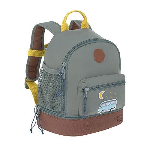 LÄSSIG Kinderrucksack mit Brustgurt Kindergartentasche Kindergartenrucksack 27 cm, 4,5 Liter oben, 1,5 Liter unten, 3 Jahre/Mini Backpack Adventure Bus