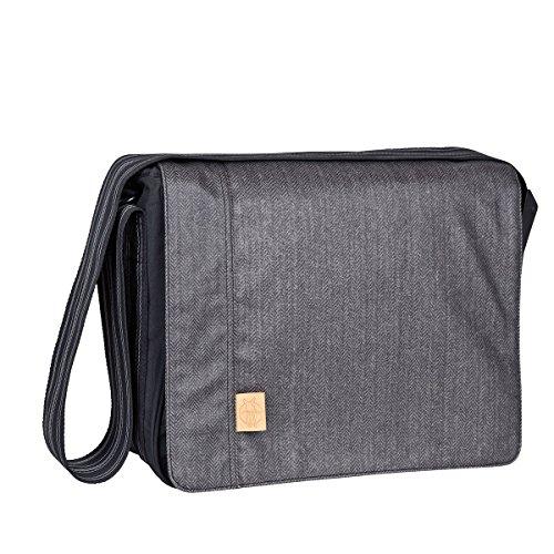 LÄSSIG Baby Wickeltasche Babytasche Stylische Umhängetasche inkl. Wickelzubehör/ Casual Messenger Bag Twill