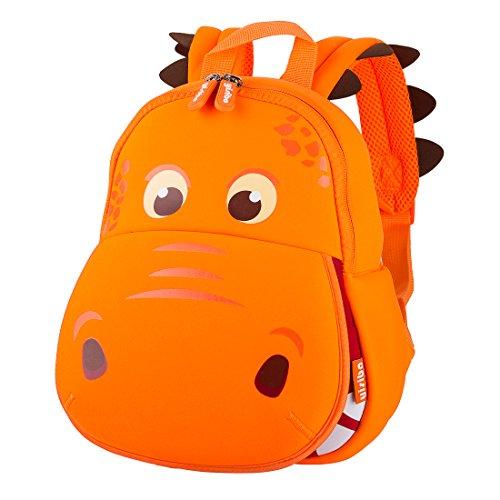 Yisibo Kinder Rucksäcke Kindergarten Vorschule Kleinkind Jungen/Mädchen Rucksack 3D Tier Tasche Schultaschen Rucksack Kind Niedliche Kindergarten Rucksack, Age 2-6(Big Mouth Dinosaurier-Orange)