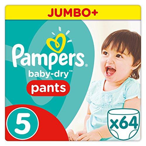Pampers Baby Dry Pants Windeln, Gr.5 (11-18 kg), Jumbo Plus, 1er Pack (1 x 64 Stück)