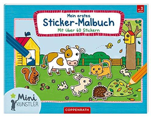 Mein erstes Sticker-Malbuch: Mit über 60 Stickern (Mini-Künstler)