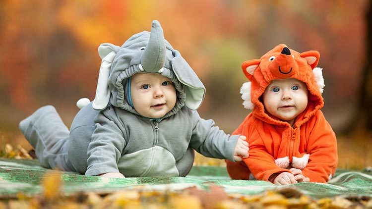 Beispiele für Faschingskostüme von Babys und Kleinkinder