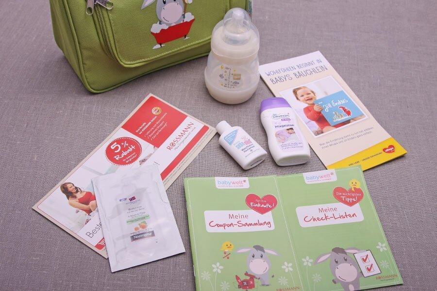 Die Anmeldung im Rossmann Babyclub / babywelt: Inhalt der Vorfreude-Tasche