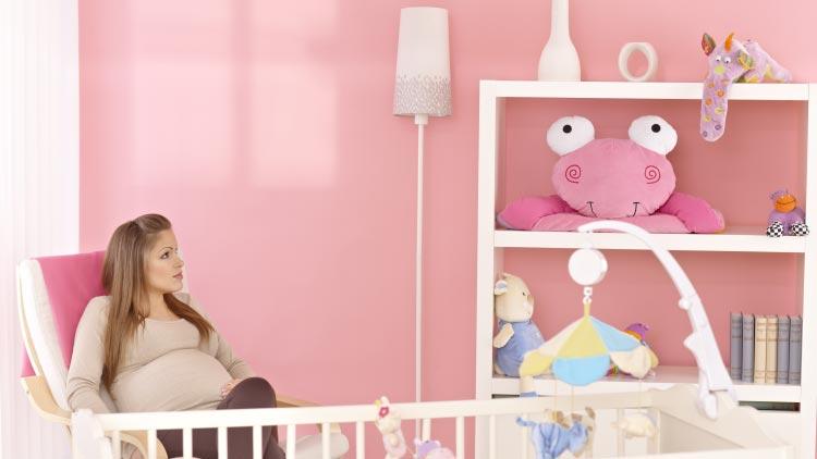 Süße Gestaltungsideen für ein Babyzimmer für Mädchen