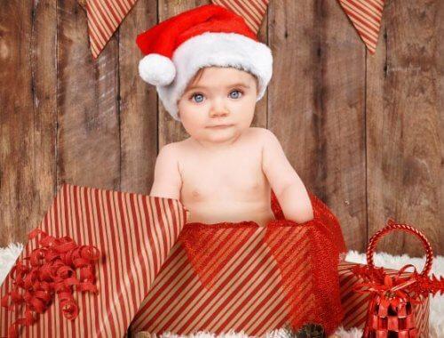 Babyfoto Ideen für Weihnachten