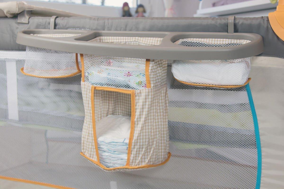 Erfahrungsbericht: Hauck Babycenter Bear Baby Reisebett im Test: Das Utensilo