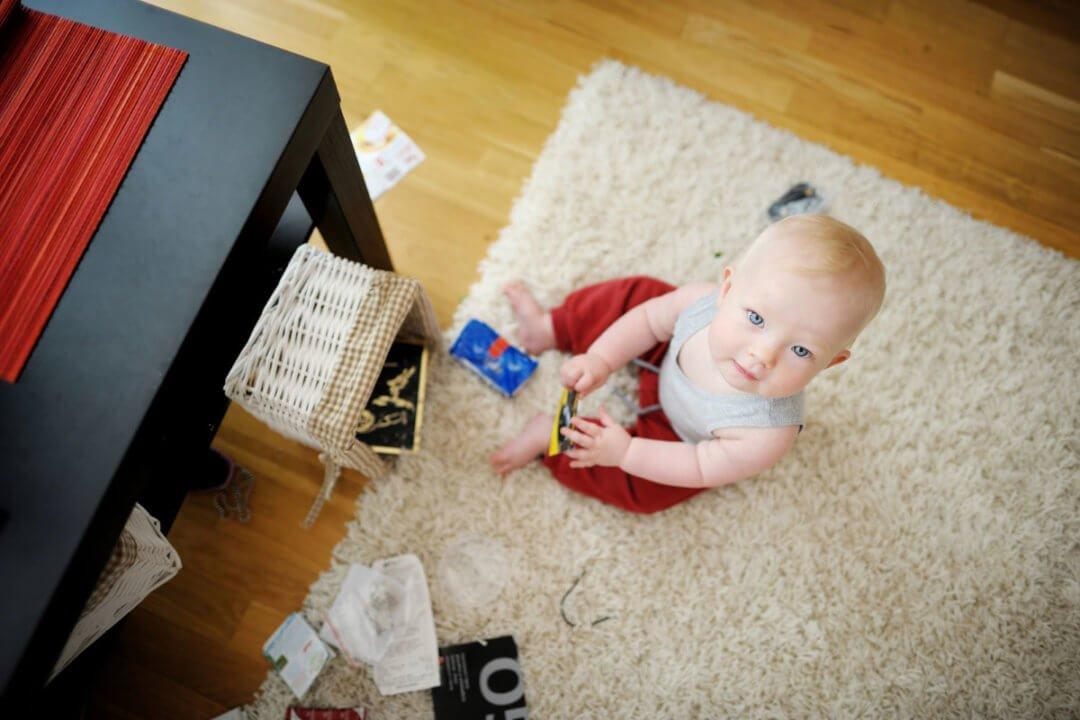 Das Leben mit Baby: Manchmal ist es das pure Chaos in der Wohnung
