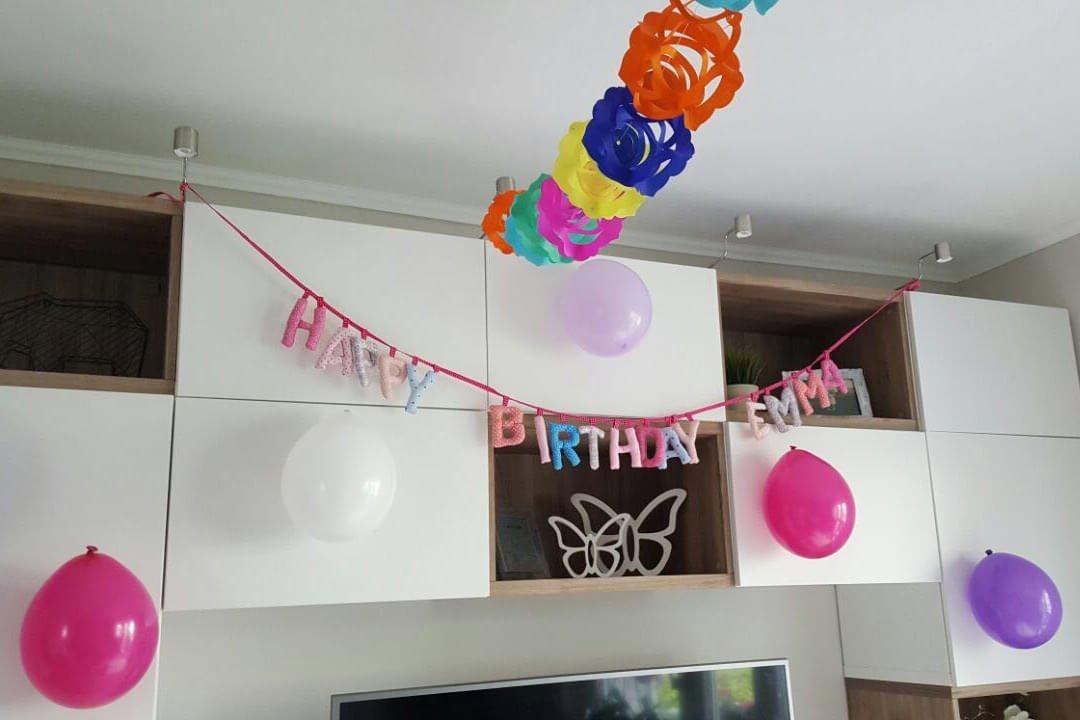 Die Dekoration zu Emmas ersten Geburtstag
