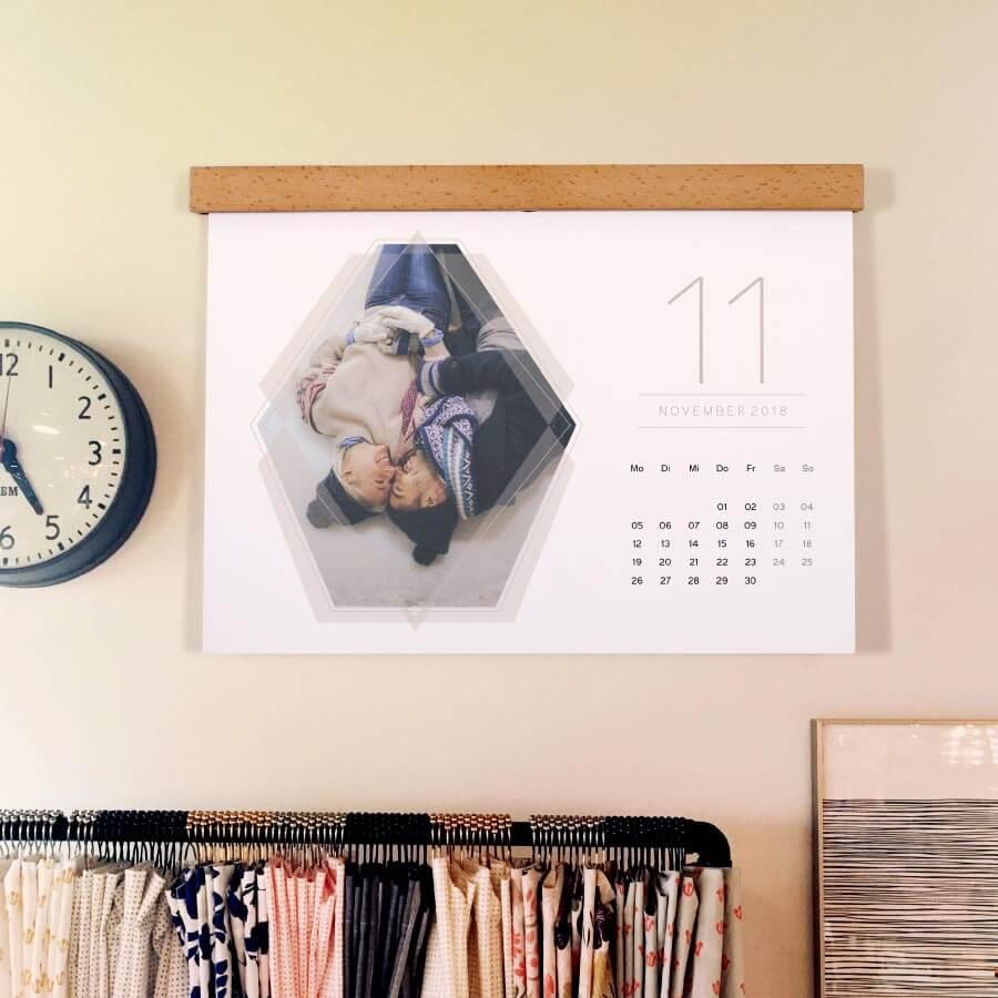 Persönliches Weihnachtsgeschenk Fotokalender mit eigenen Fotos als Wandkalender