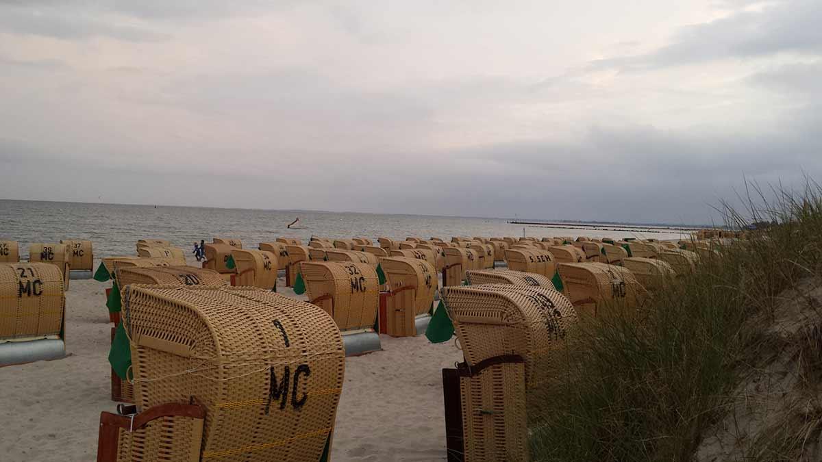 Strandkörbe am Südstrand auf Fehmarn