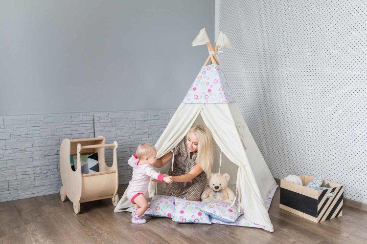 Tipi für das Kinderzimmer: Ein Zelt zum verstecken, spielen und mehr