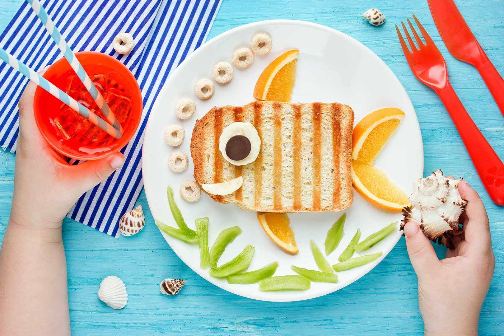 Toastfisch mit Orangenflossen