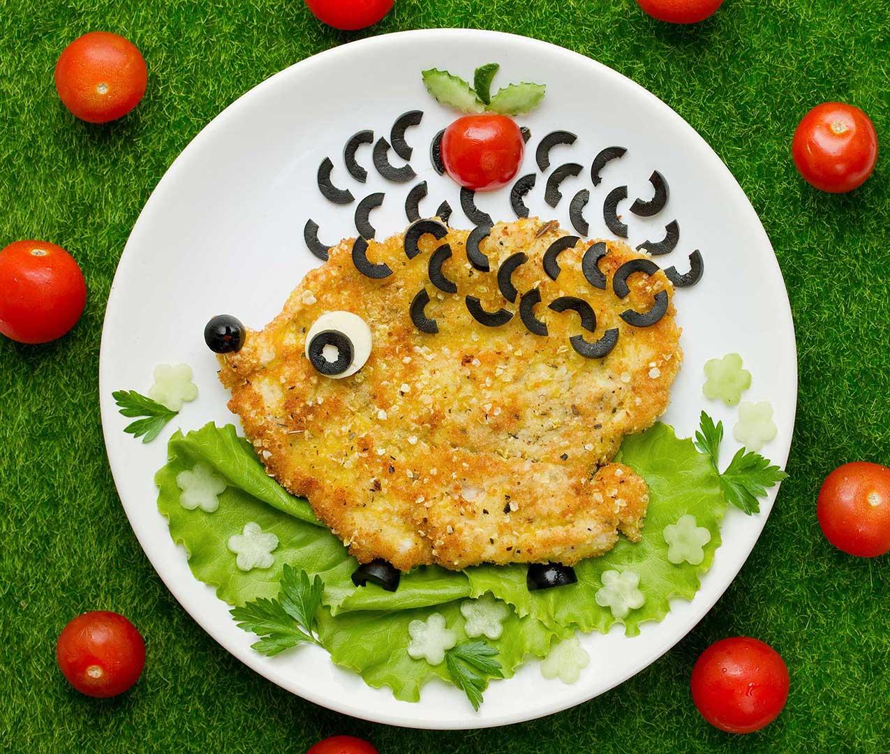 Schnitzeligel mit Olivenstacheln