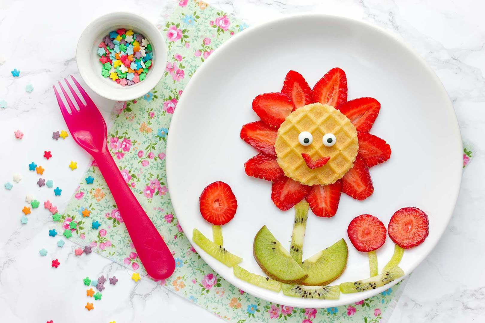 Waffelerdbeerblume