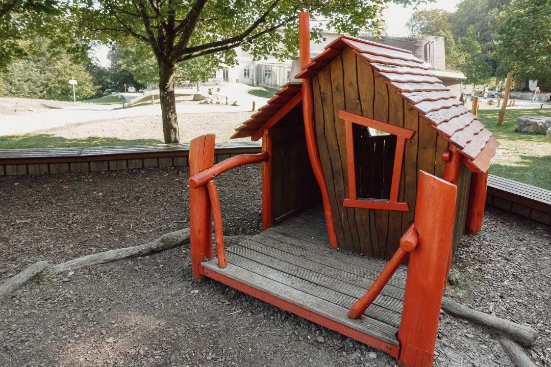 Spielplatz beim Kreidefelsen Königsstuhl auf Rügen