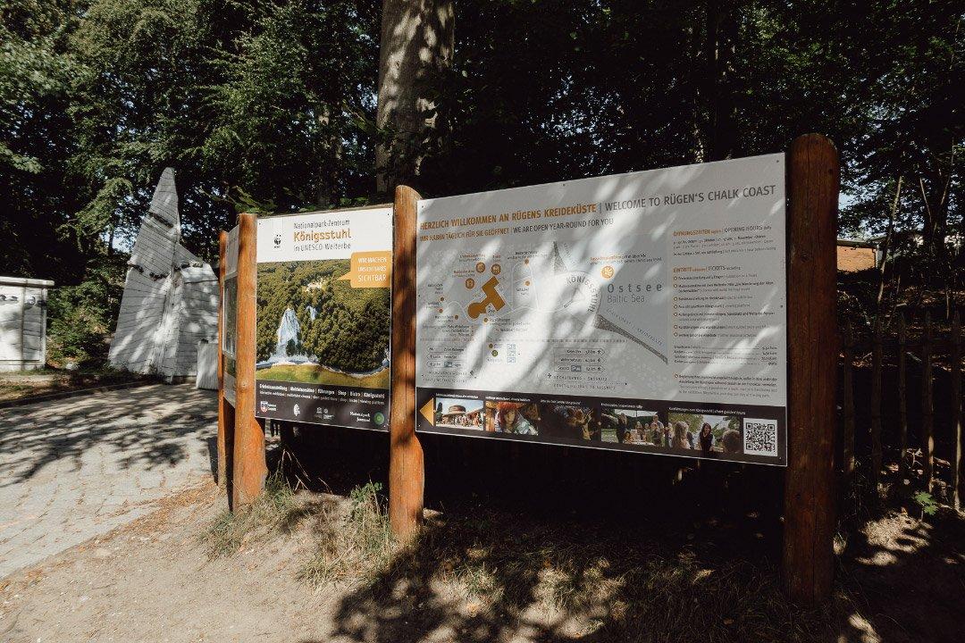 Übersichtskarte vom Nationalpark-Zentrum Königsstuhl