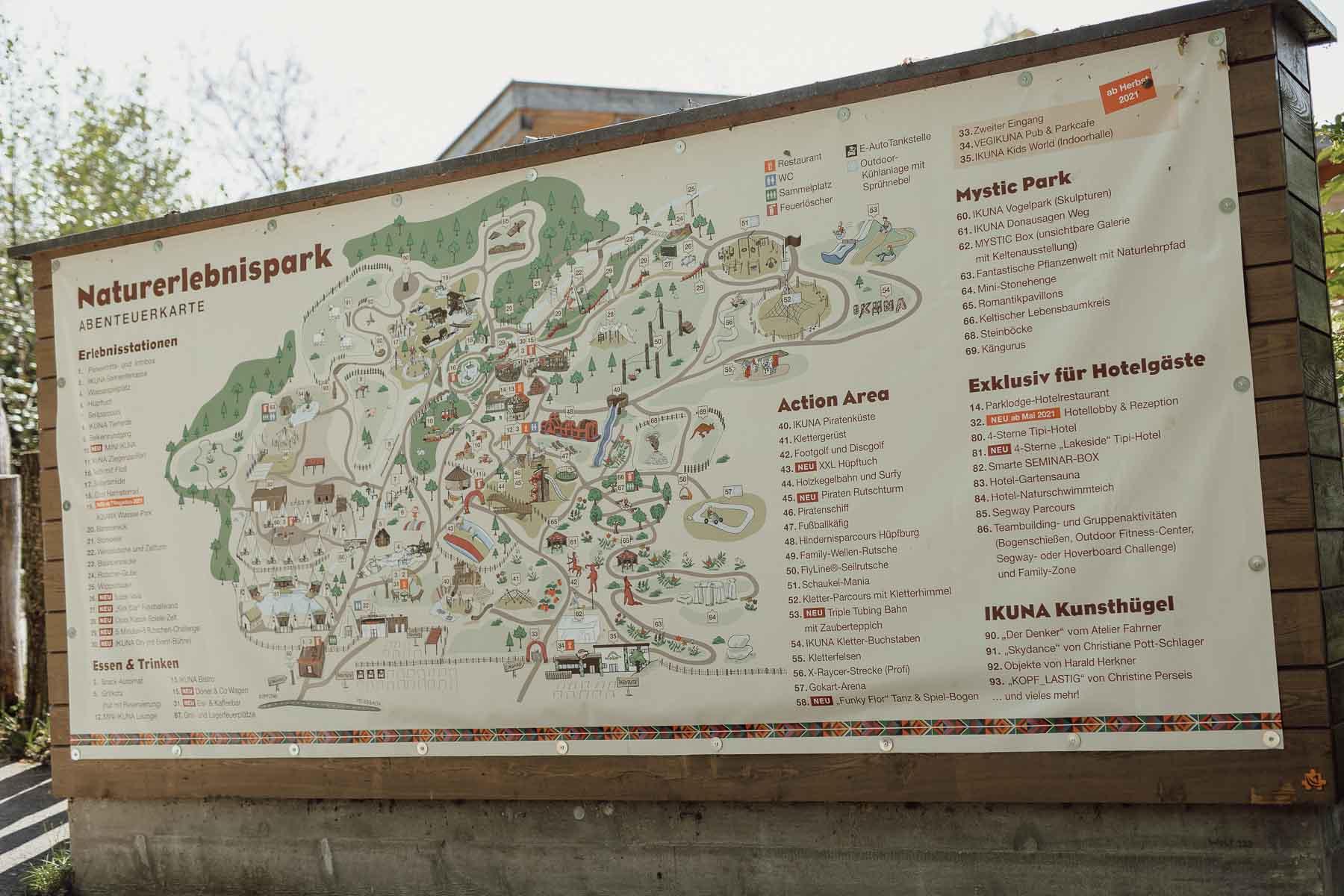 Übersichtskarte des IKUNA Naturresorts