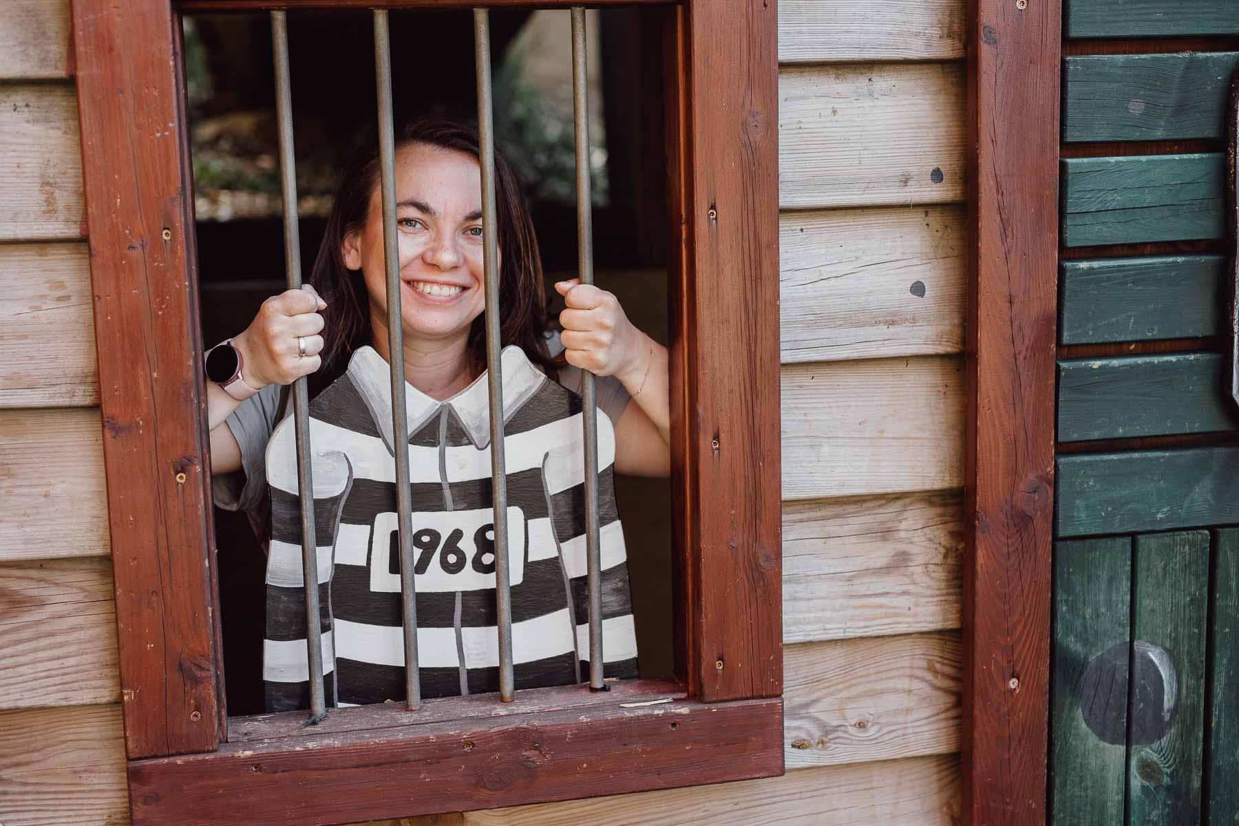 Sandra im Gefängnis